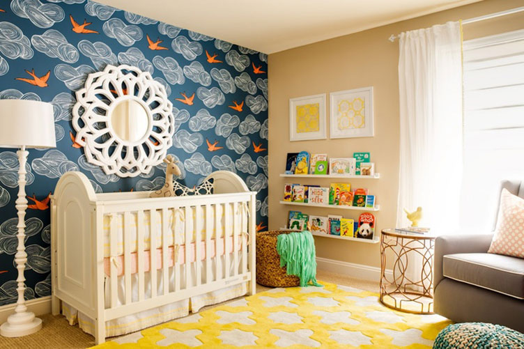 Modern kids rooms two birdies via j j design group for Modern nursery images
